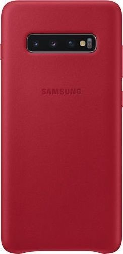 Samsung Leather Cover für Galaxy S10+ rot (EF-VG975LREGWW)