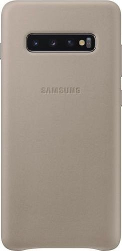 Samsung Leather Cover für Galaxy S10+ grau (EF-VG975LJEGWW)