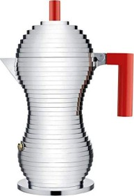 Alessi Pulcina 6 cups espresso pot red (MDL02/6RFM)