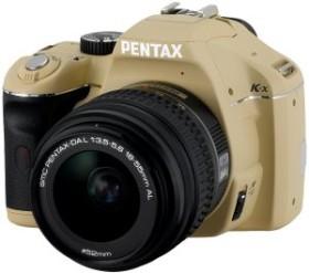 Pentax K-x beige mit Objektiv DA L 18-55mm (16314)
