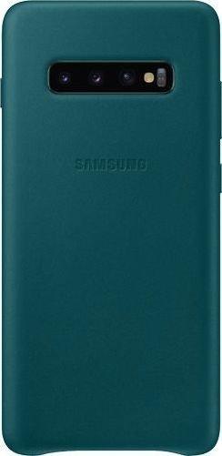 Samsung Leather Cover für Galaxy S10+ grün (EF-VG975LGEGWW)
