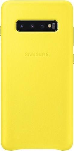 Samsung Leather Cover für Galaxy S10+ gelb (EF-VG975LYEGWW)