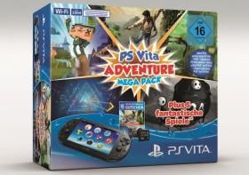Sony PlayStation Vita Slim Wi-Fi Mega Pack Bundle Adventure schwarz