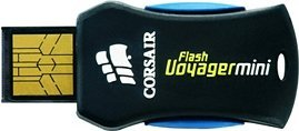 Corsair Flash Voyager mini 16GB, USB-A 2.0 (CMFUSBMINI-16GB)