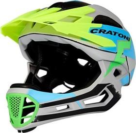 Cratoni C-Maniac Pro Fullface-Helm grey/blue matt