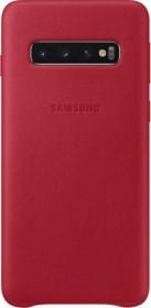 Samsung Leather Cover für Galaxy S10 rot (EF-VG973LREGWW)