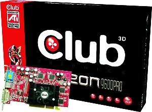 Club 3D Radeon 9600 Pro, 256MB DDR, DVI, TV-out, AGP (CGA-P966TVD)
