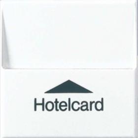 Jung Serie A Hotelcard-Schalter ohne Taster-Einsatz, alpinweiß (A 590 CARD WW)