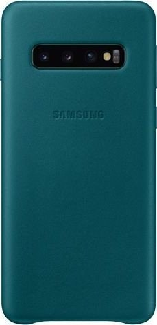 Samsung Leather Cover für Galaxy S10 grün (EF-VG973LGEGWW)