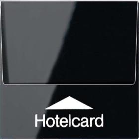 Jung Serie A Hotelcard-Schalter ohne Taster-Einsatz, schwarz (A 590 CARD SW)