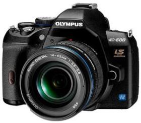 Olympus E-600 schwarz mit Objektiv 14-42mm 3.5-5.6