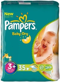 Pampers Baby-Dry Gr.3+ Einwegwindel, 5-10kg, 32 Stück
