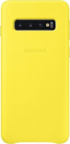 Samsung Leather Cover für Galaxy S10 gelb (EF-VG973LYEGWW)