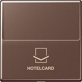 Jung Serie A Hotelcard-Schalter ohne Taster-Einsatz, mokka (A 590 CARD MO)