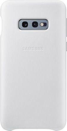 Samsung Leather Cover für Galaxy S10e weiß (EF-VG970LWEGWW)