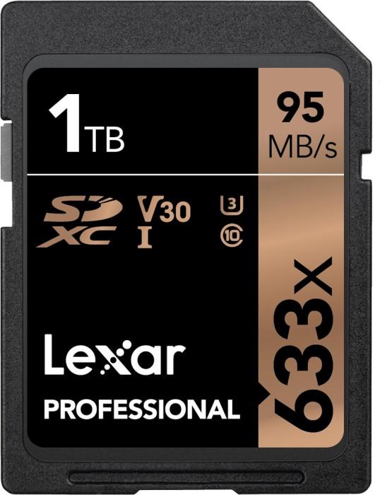 Lexar Professional 633x R95/W70 SDXC 1TB, UHS-I U3, Class 10 (LSD1TCB633)