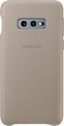 Samsung Leather Cover für Galaxy S10e grau (EF-VG970LJEGWW)