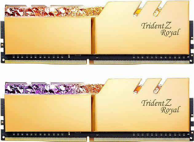 G.Skill Trident Z Royal gold DIMM Kit 16GB, DDR4-4600, CL18-22-22-42 (F4-4600C18D-16GTRG)