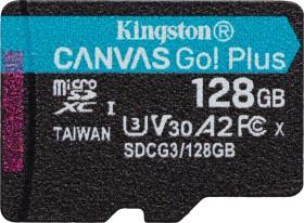 Kingston Canvas Go! Plus R170/W90 microSDXC 128GB, UHS-I U3, A2, Class 10 (SDCG3/128GBSP)
