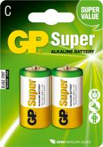 GP Batteries Super Alkaline Baby C, alkali, 1.5V, 2-pack (14A C)