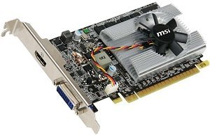 MSI N210-MD1G, GeForce 210 (GT216), 1GB DDR2, DVI, HDMI (V190-012R)