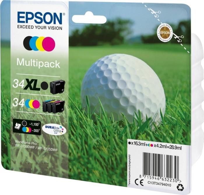 Epson ink 34 XL BK/34 CMY multipack (C13T34794020/C13T34794010)