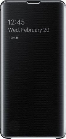 Samsung Clear View Cover für Galaxy S10 schwarz (EF-ZG973CBEGWW)