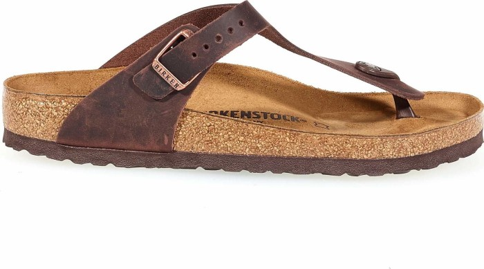 57c78a6fd46 Birkenstock Gizeh Nubuk leather habana (ladies) (0743831 0743833)