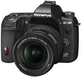 Olympus E-30 schwarz mit Objektiv Fremdhersteller