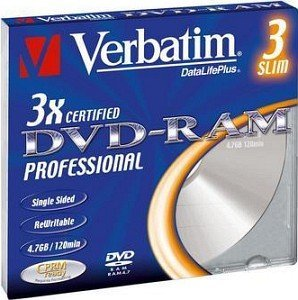 Verbatim DVD-RAM single sided 4.7GB 3x, 1er