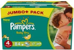 Pampers Baby-Dry Gr.4 Einwegwindel, 7-18kg, 96 Stück