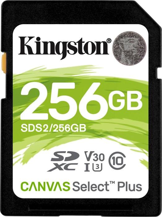 Kingston Canvas Select Plus R100/W85 SDXC 256GB, UHS-I U3, Class 10 (SDS2/256GB)