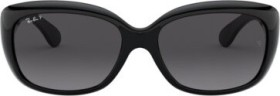Ray-Ban RB4101 Jackie Ohh 58mm gloss black/grey gradient (ladies) (RB4101-601/T3)