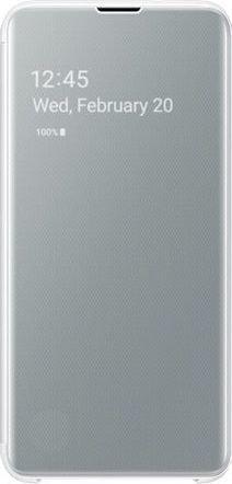 Samsung Clear View Cover für Galaxy S10e weiß (EF-ZG970CWEGWW)