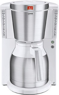 Melitta Look IV Therm DeLuxe stainless steel/white (1011-13)