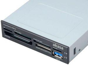 Akasa USB 3.0 SuperSpeed Memory Cardreader, USB 3.0 (AK-ICR-13)