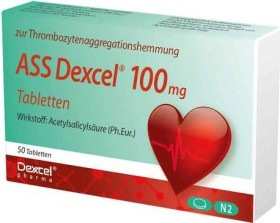 ASS Dexcel 100mg Tabletten, 50 Stück