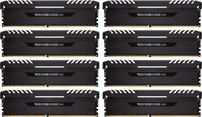 Corsair Vengeance RGB black DIMM kit 64GB, DDR4-3800, CL19-19-19-39 (CMR64GX4M8X3800C19)