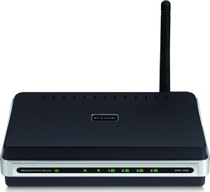 D-Link DPR-1260 wireless print server, 108Mbps, 4x USB 2.0