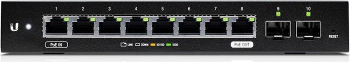 Ubiquiti EdgeSwitch 10 X desktop Gigabit Managed switch, 8x RJ-45, 2x SFP, PoE/PoE PD (ES-10X)