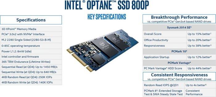 Intel Optane SSD 800P 118GB, M 2 (SSDPEK1W120GA)
