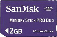 SanDisk Memory Stick [MS] Pro Duo Mobile 2GB (SDMSPD-2048-E10M)