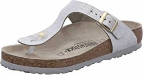 Birkenstock Gizeh washed metallic blue silver (Damen) (1008699)