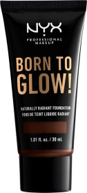 NYX Born To Glow Naturally Radiant Foundation deep ebony, 30ml
