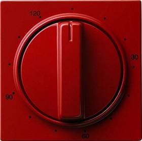 Gira Abdeckung mit Knebel für Zeitschalter 120 Minuten, rot (0642 43)