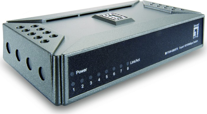Level One FSW desktop switch, 8x RJ-45 (FSW-0808TX/530136)