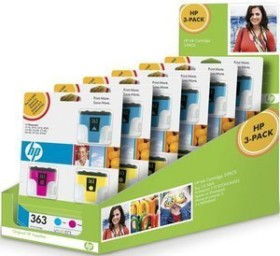 HP Tinte 363 Rainbow Kit Display Box (CC579EE)