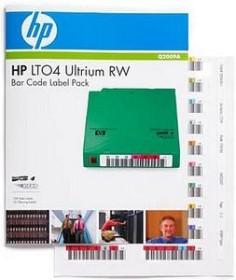 HP LTO-Ultrium 4 RW Bar Code Label pack, 100 pieces (Q2009A)