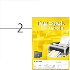 Top Stick labels universal 210x148mm, white, 100 sheets (8718)