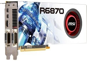 MSI R6870-2PM2D1GD5, Radeon HD 6870, 1GB GDDR5, 2x DVI, HDMI, 2x mini DisplayPort (V803-663R)
